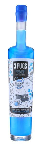 3 Pugs Bubblegum, Gin Liqueur