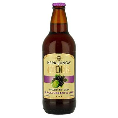 Herrljunga Blackcurrant Cider 12x500mlx4.5%